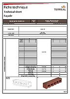 Technical sheet mulot perforated 22