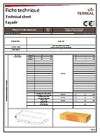 Technical sheet solid brick 28