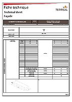 Technical sheet solid brick 40