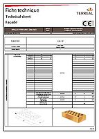 Technical sheet perforated brick 28
