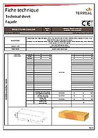 Technical sheet solid brick 22