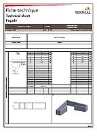 Data sheet angle 90 ° ssunscreen system