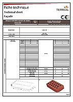 Technical sheet perforated brick quarter round 22
